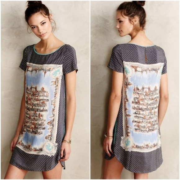 Anthropologie Dresses & Skirts - Anthropologie silk t-shirt travel dress